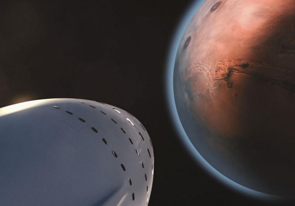 Mars (SpaceX, NASA, CC, čtk, ESA)