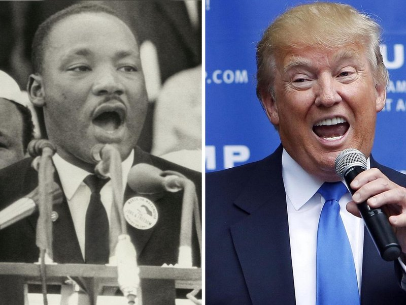 Martin Luther King a Donald Trump