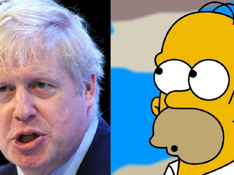 Boris Johnson / Homer Simpson